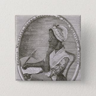 Portrait of Phillis Wheatley 15 Cm Square Badge