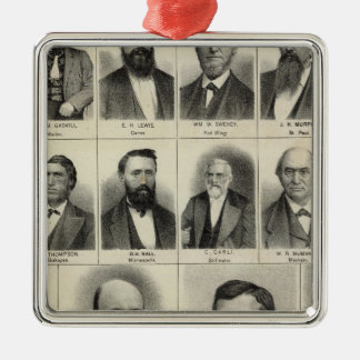 Portrait of Physicians Waste and Gaskill Christmas Ornament
