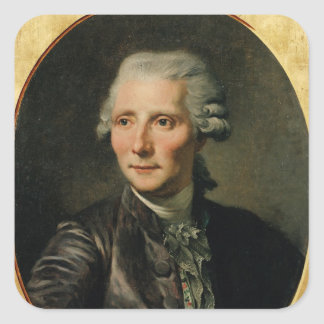 Portrait of Pierre Augustin Caron de Square Sticker