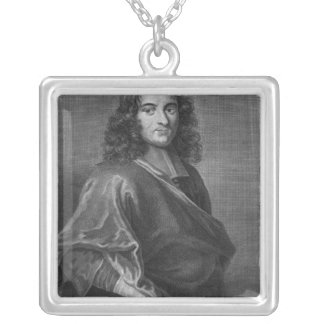Portrait of Pierre Bayle Silver Plated Necklace