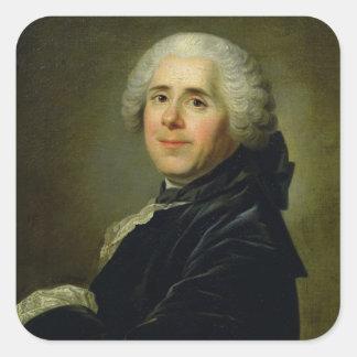 Portrait of Pierre Carlet de Chamblain de Square Sticker