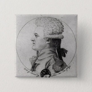 Portrait of Pierre Charles de Villeneuve 15 Cm Square Badge