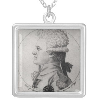 Portrait of Pierre Charles de Villeneuve Silver Plated Necklace