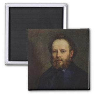 Portrait of Pierre Joseph Proudhon  1865 Square Magnet