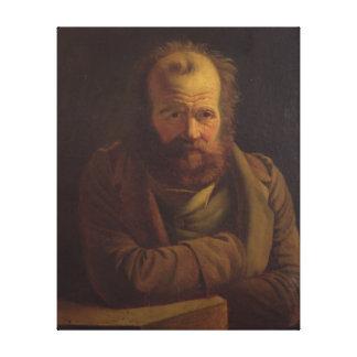 Portrait of Pierre Joseph Proudhon Canvas Print