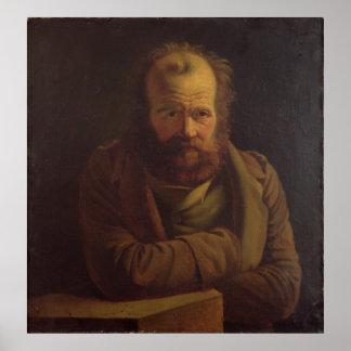 Portrait of Pierre Joseph Proudhon Poster