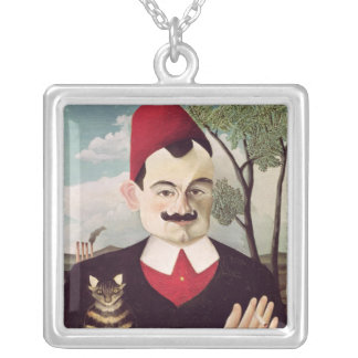 Portrait of Pierre Loti  c.1891 Silver Plated Necklace