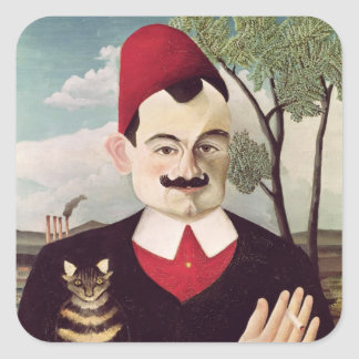 Portrait of Pierre Loti  c.1891 Square Sticker