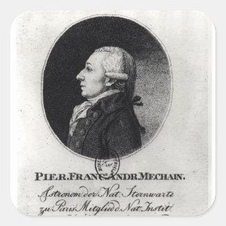 Portrait of Pierre Mechain Square Sticker