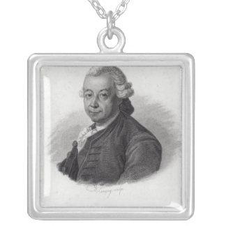 Portrait of Pierre Poivre Silver Plated Necklace