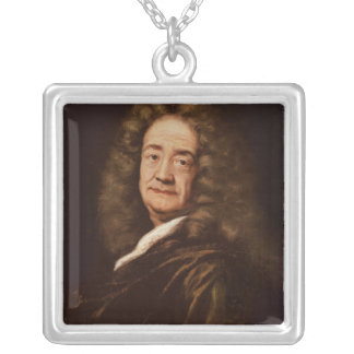 Portrait of Pierre Puget Silver Plated Necklace