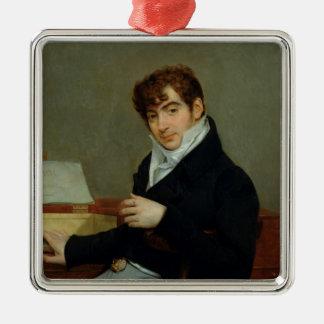 Portrait of Pierre Zimmermann  1808 Silver-Colored Square Decoration