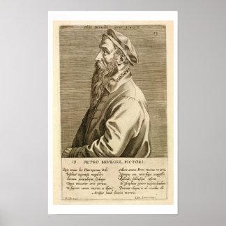 Portrait of Pieter Brueghel the Elder (c.1527/8-69 Poster