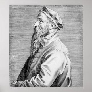 Portrait of Pieter Brueghel the Elder Poster