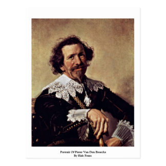 Portrait Of Pieter Van Den Broecke By Hals Frans Postcard