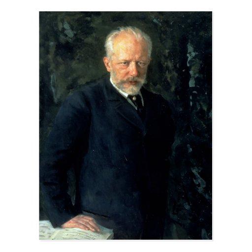 Portrait of Piotr Ilyich Tchaikovsky Postcards