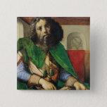 Portrait of Plato  c.1475 15 Cm Square Badge