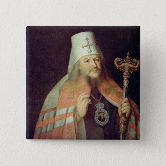 Portrait of Plato II, Metropolitan of Moscow 15 Cm Square Badge