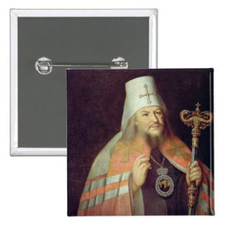 Portrait of Plato II, Metropolitan of Moscow 15 Cm Square Badge