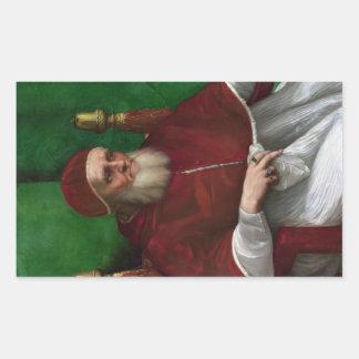 'Portrait of Pope Julius II' Rectangular Sticker