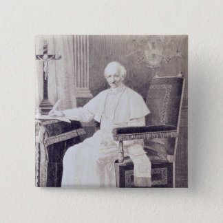 Portrait of Pope Leo XIII 15 Cm Square Badge