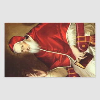 'Portrait of Pope Pious V' Rectangle Stickers