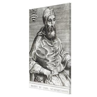 Portrait of Pope Pius IV 1555 Canvas Prints