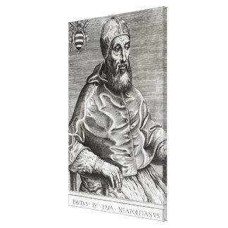 Portrait of Pope Pius IV, 1555 Stretched Canvas Print