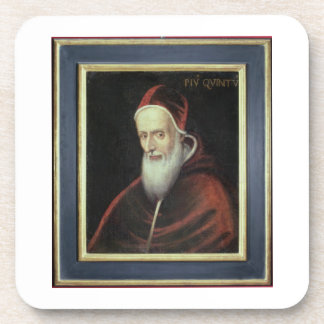 Portrait of Pope Pius V (1504-72) (oil on canvas) Coaster