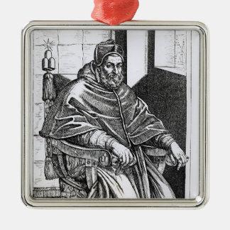 Portrait of Pope Sixtus V Christmas Ornament