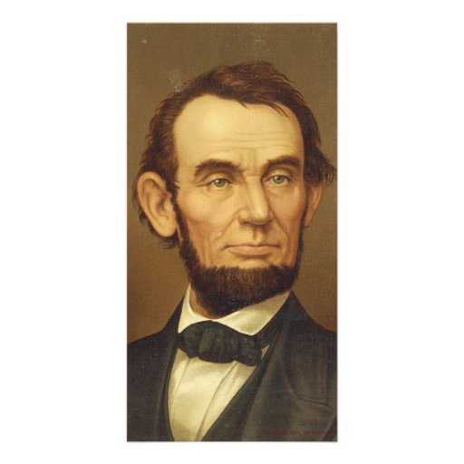 Portrait of President Abraham Lincoln Personalized Photo Card