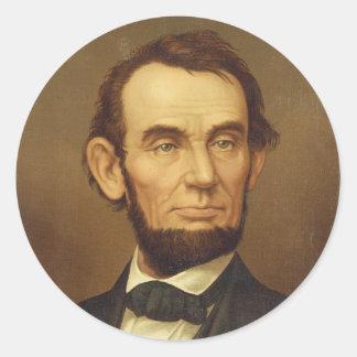 Portrait of President Abraham Lincoln Round Sticker