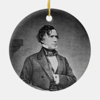 Portrait of President Franklin Pierce by M Brady Christmas Ornament