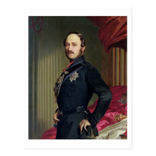 Portrait of Prince Albert (1819-61) 1859 (oil on c Post Card