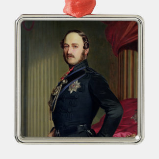 Portrait of Prince Albert (1819-61) 1859 (oil on c Silver-Colored Square Decoration