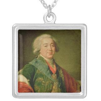 Portrait of Prince Alexander Borisovich Kurakin Silver Plated Necklace