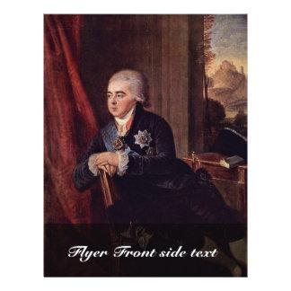 Portrait Of Prince Alexei Kurakin Chancellor Of Th Full Color Flyer