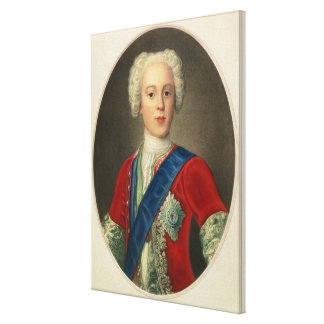 Portrait of Prince Charles Edward Canvas Print