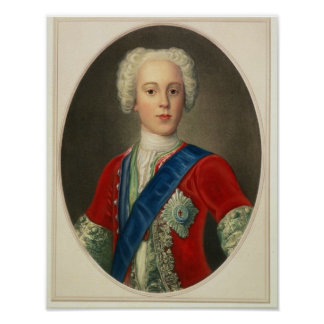 Portrait of Prince Charles Edward Poster