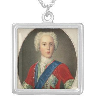 Portrait of Prince Charles Edward Square Pendant Necklace