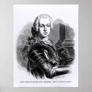 Portrait of Prince Charles Edward Stuart Print