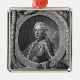 Portrait of Prince Henry of Prussia , 1779 Silver-Colored Square Decoration