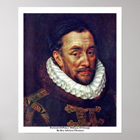 Portrait Of Prince William Of Orange Poster