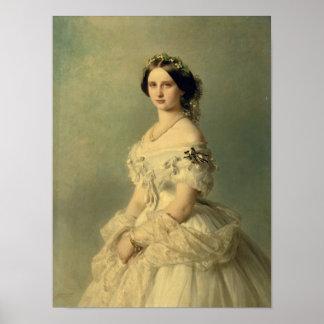 Portrait of Princess of Baden, 1856 Poster