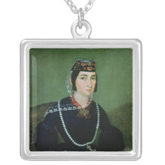 Portrait of Princess Salome Chavchavadze Silver Plated Necklace