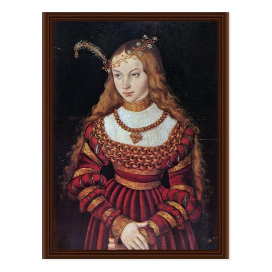 Portrait Of Princess Sybille Of Cleves As A Bride Postcard