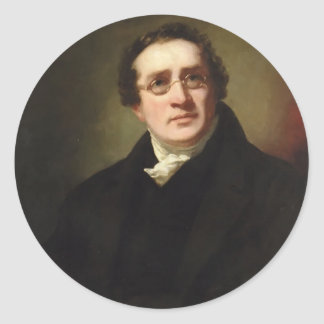 Portrait of Professor George Bell by Henry Raeburn Classic Round Sticker