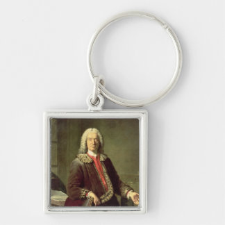 Portrait of Prosper Jolyot de Crebillon , 1746 Key Ring