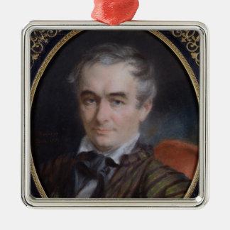 Portrait of Prosper Merimee  1853 Silver-Colored Square Decoration
