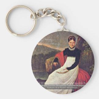 Portrait Of Queen Caroline Key Chain